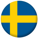 Sweden Country Flag 58mm Button Badge